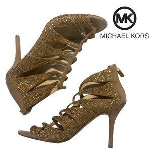 Michael Kors Women Mavis Embellished Suede Heels